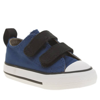 CONVERSE NAVY & BLACK ALL STAR OX 2V BOYS TODDLER TRAINERS