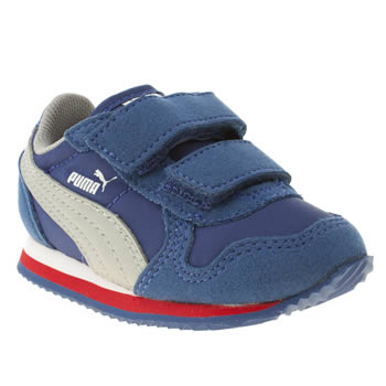 kids puma blue st runner trainers