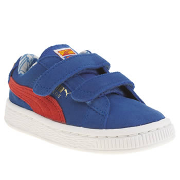 Boys Puma Blue Suede Superman Velcro Boys Toddler