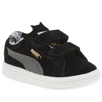 Puma Black & Grey Suede Batman Boys Toddler