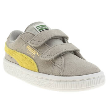 Puma Light Grey Classic Suede Boys Toddler