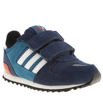 kids adidas blue zx 700 trainers