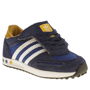 Boys Adidas Navy La Trainer Boys Toddler