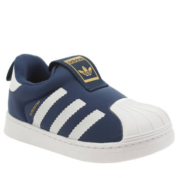 Boys Adidas Blue Superstar 360 Boys Toddler