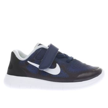 Nike Navy Free Run 2 Boys Toddler