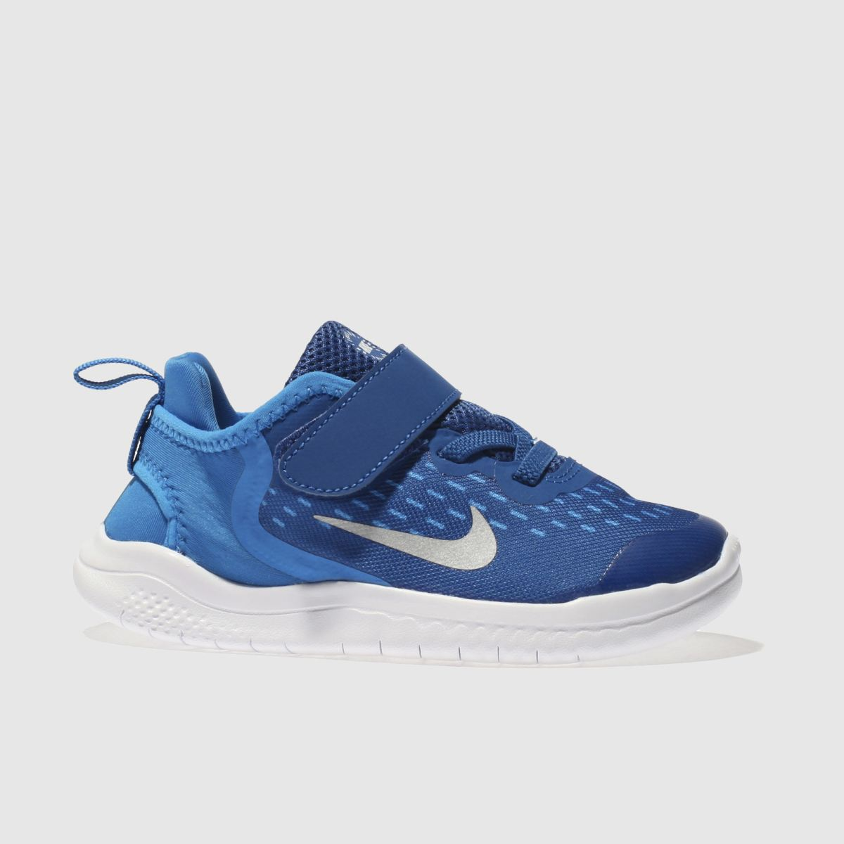Nike Navy & White Free Rn 2018 Boys Toddler Trainers