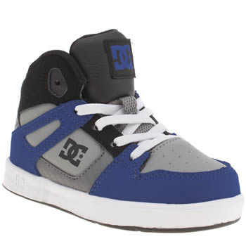 Dc Shoes Navy & Grey Rebound Boys Toddler