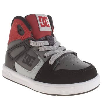 Dc Shoes Black & Grey Rebound Ul Boys Toddler
