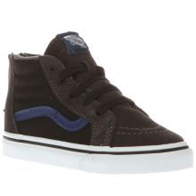 Vans Grey & Black Sk8-hi Zip Boys Toddler