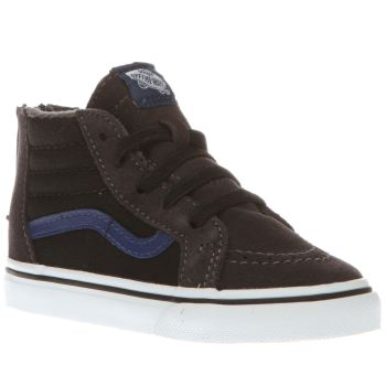 Boys Vans Grey & Black Sk8-hi Zip Boys Toddler