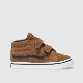 Vans Brown Sk8-Mid Reissue Boys Toddler