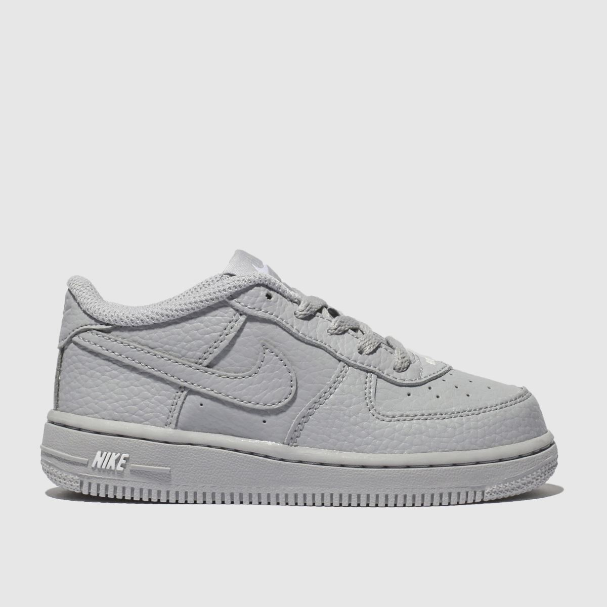 Nike Light Grey Force 1 Leather 2 Trainers Toddler