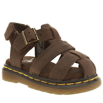Dr Martens Dark Brown Moby Sandal Boys Toddler