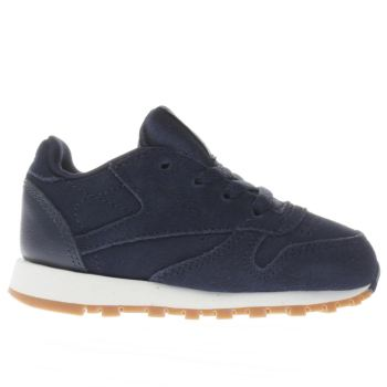 Reebok Navy CLASSIC LEATHER Boys Toddler