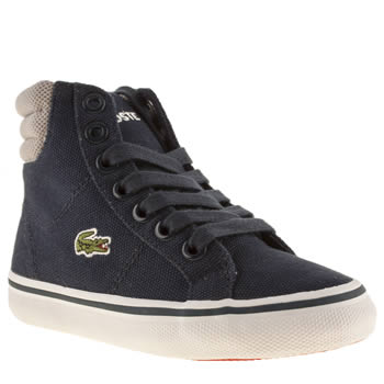 Lacoste Navy & Grey Marcel Mid Lpt Boys Toddler