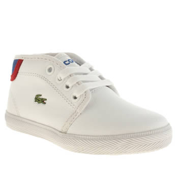 Lacoste White & Navy Ampthill Boys Toddler