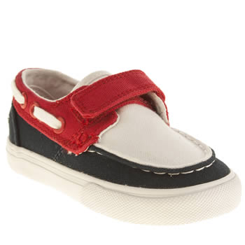 Lacoste Navy & Red Keel Boys Toddler