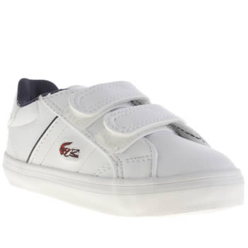 Lacoste White & Red Fairlead Boys Toddler