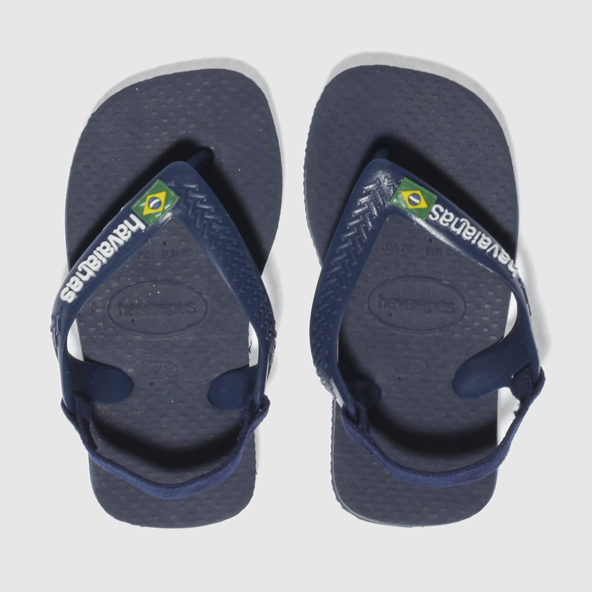 Havaianas Navy Brasil Logo Boys Toddler Sandals