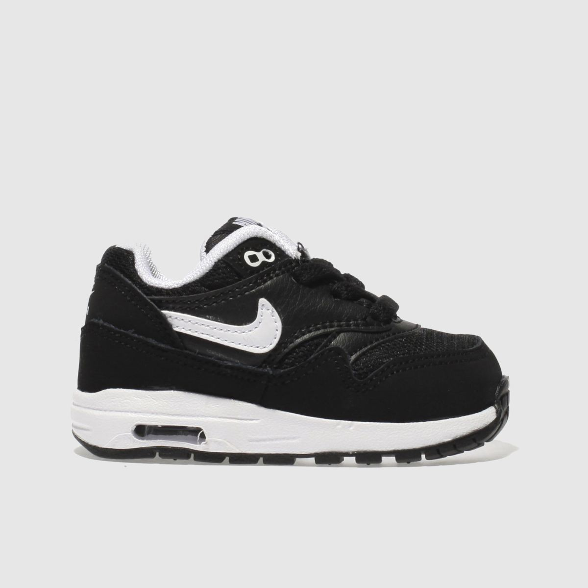 Nike Black & White Air Max 1 Boys Toddler Trainers