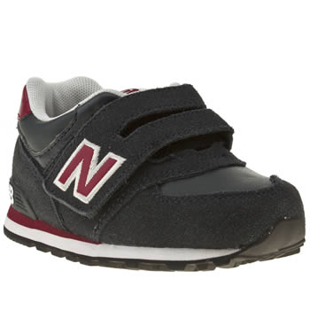New Balance Navy & Red 574 Boys Toddler