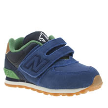 New Balance Navy & Green 574 New England Boys Toddler