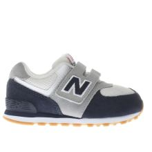 New Balance Navy & White 574 Boys Toddler