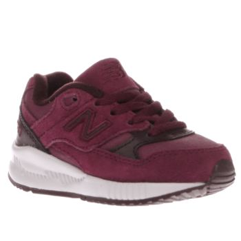 NEW BALANCE BURGUNDY 530 BOYS TODDLER TRAINERS