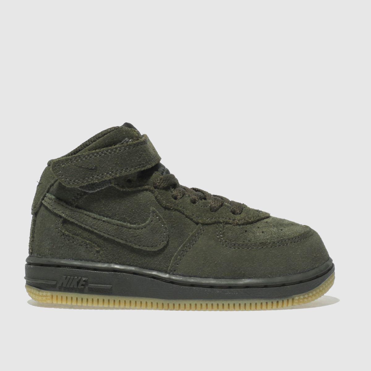 Nike Khaki Air Force 1 High Lv8 Trainers Toddler