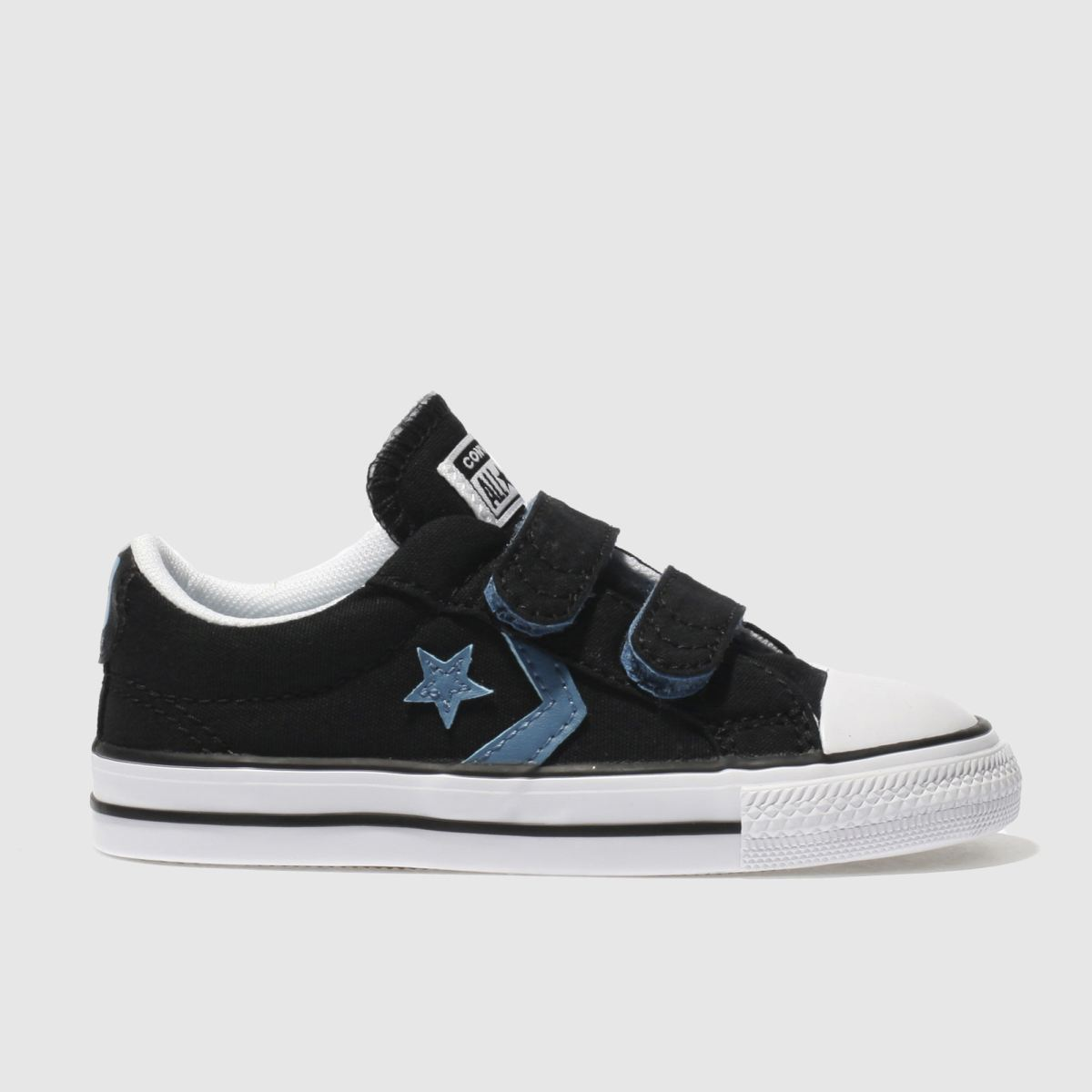 Converse Black And Blue Star Player 2v Trainers Toddler