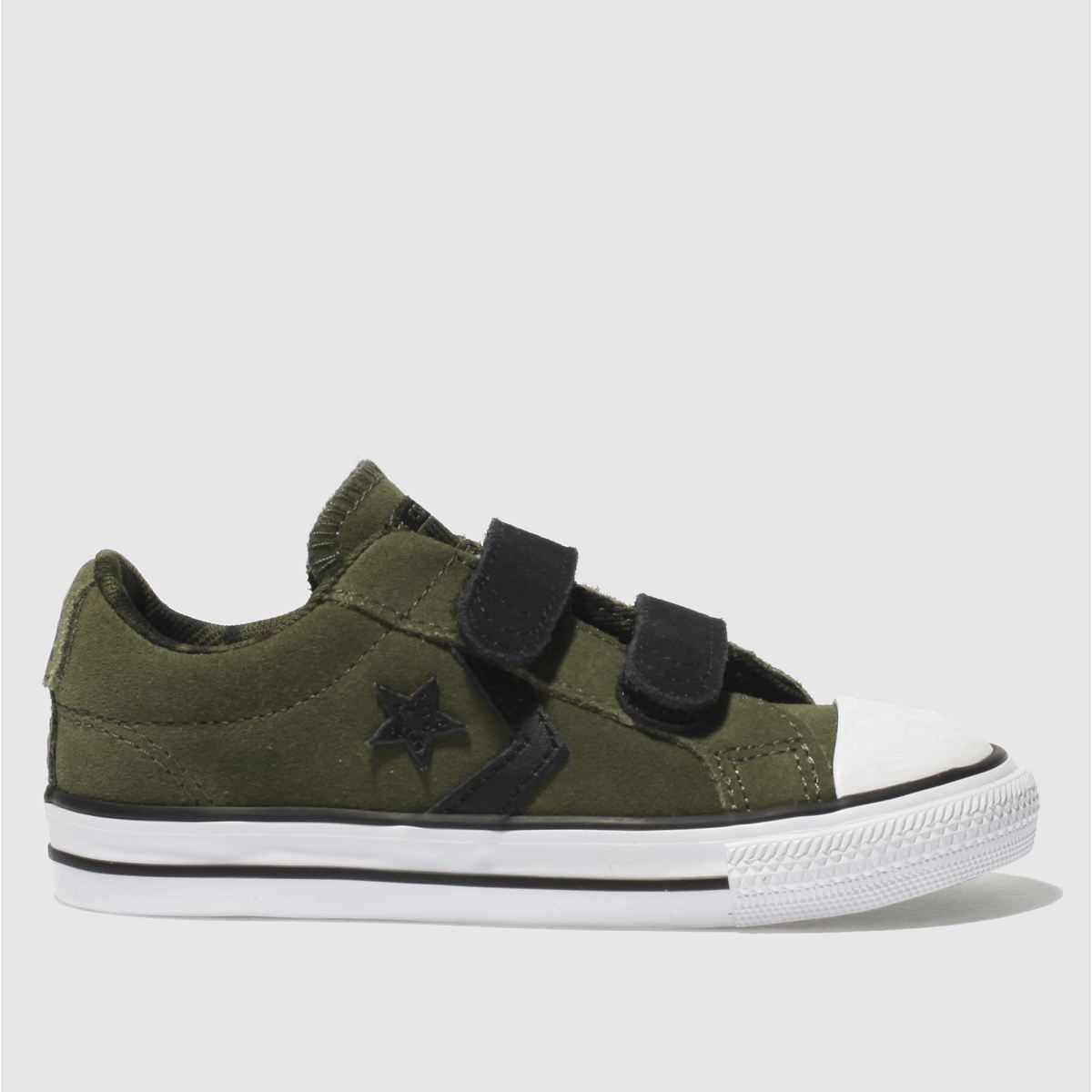 Converse Khaki Star Player 2v Ox Boys Toddler Trainers