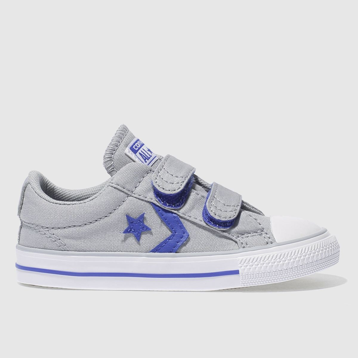 Converse Grey & Navy Star Player 2v Ox Boys Toddler Trainers