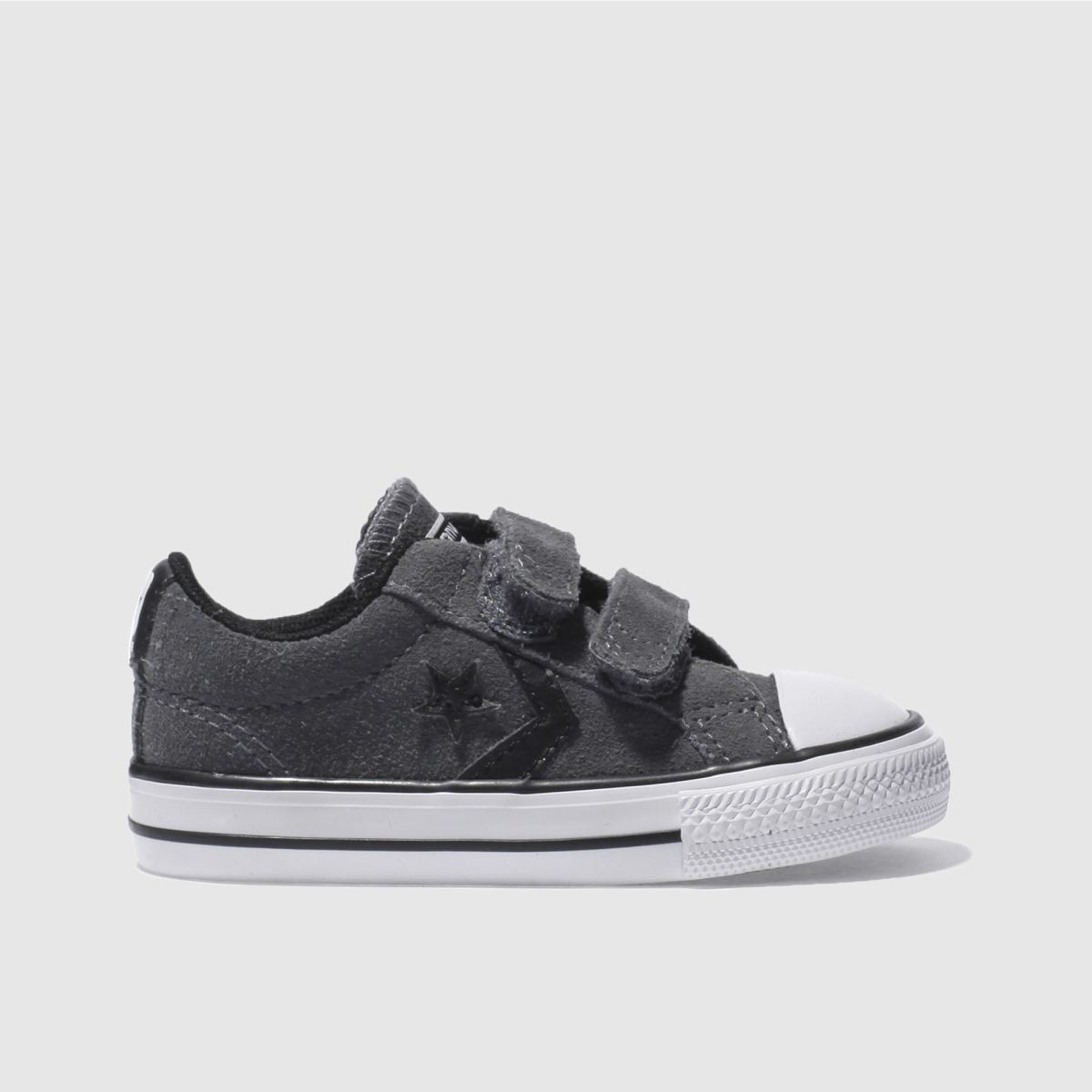 converse dark grey star player Boys Toddler Trainers