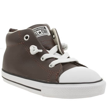 CONVERSE BROWN ALL STAR STREET HI BOYS TODDLER TRAINERS