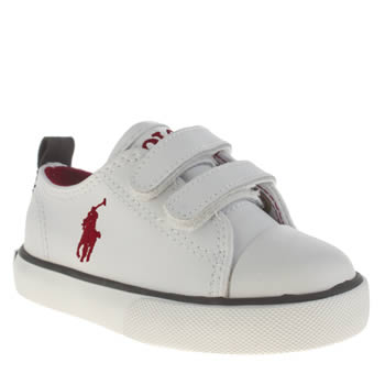 Polo Ralph Lauren White Falmuth Low Ez Boys Toddler