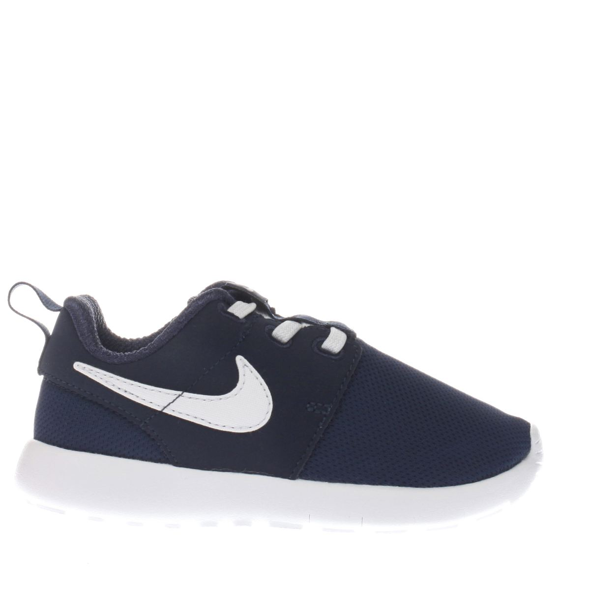 nike navy & white roshe one Boys Toddler Trainers