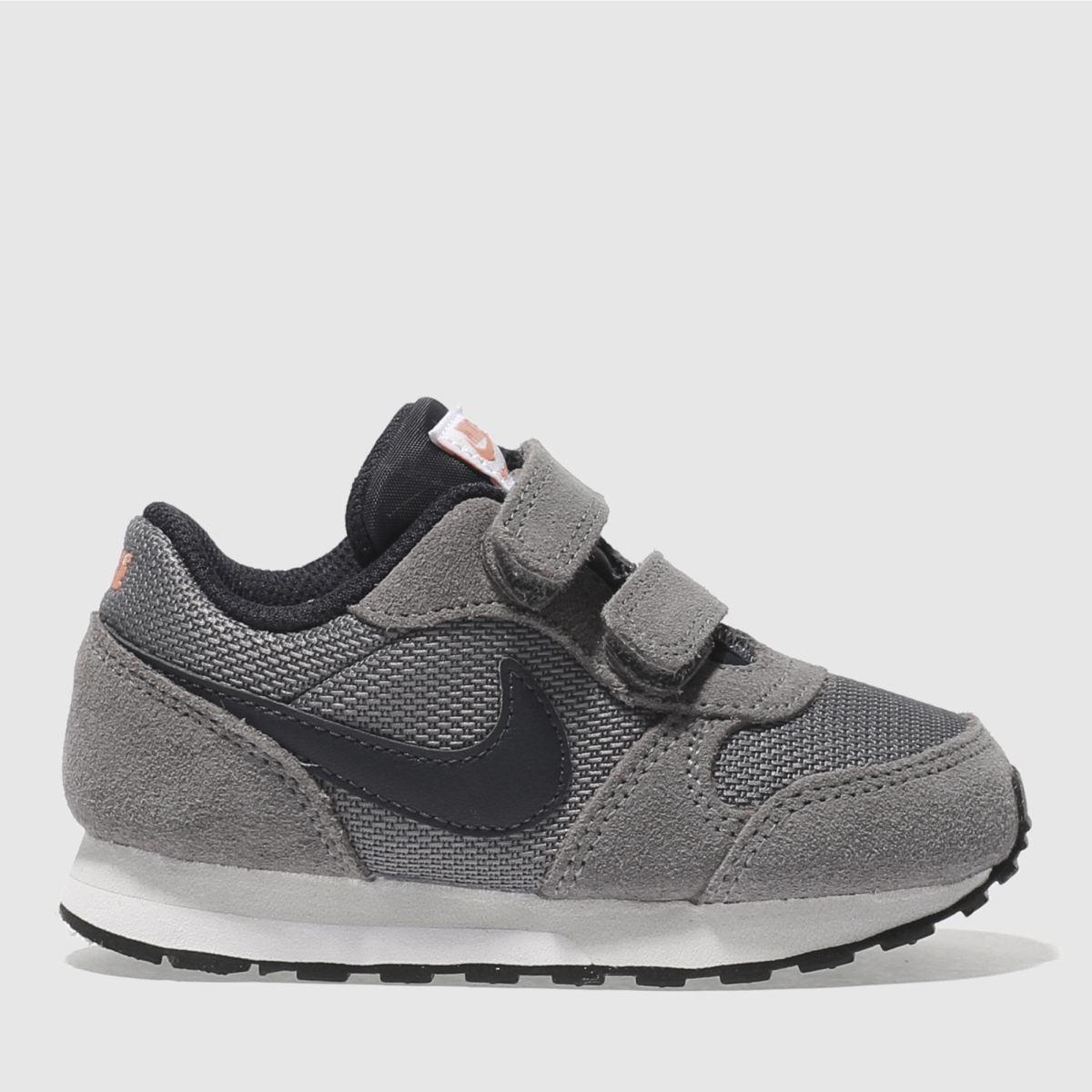 Nike Grey & Black Md Runner Boys Toddler Trainers