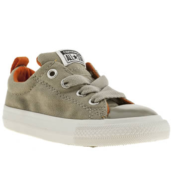 kids converse grey street trainers