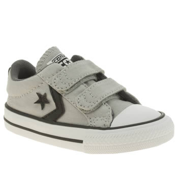 Converse Light Grey Star Player 2v Boys Toddler