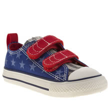Toddler Blue Converse All Star Oxford V2