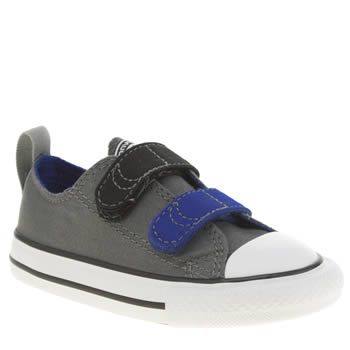 Converse Grey & Black All Star Ox Boys Toddler