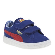 Puma Blue Suede Superman Boys Toddler