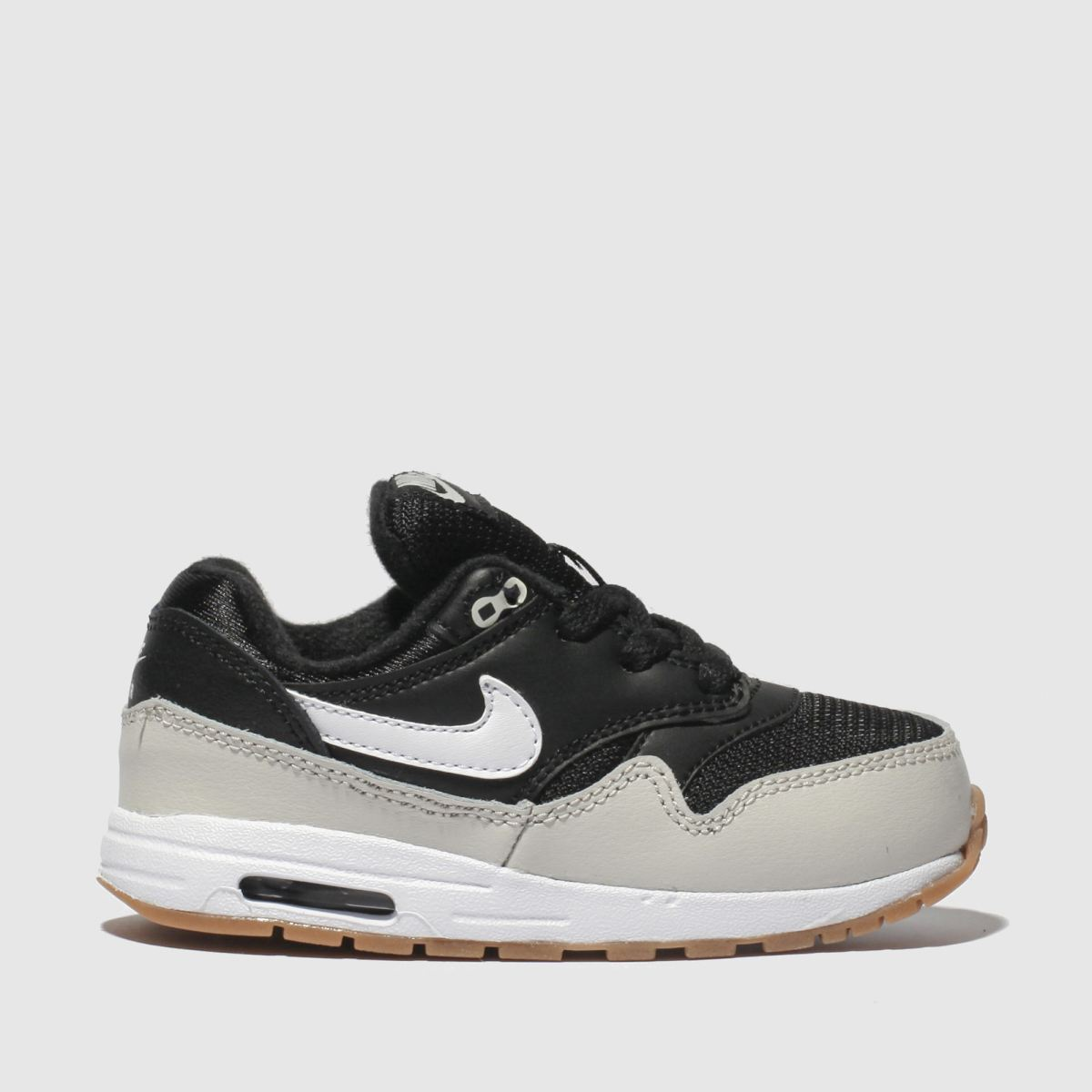 Nike Black & White Air Max 1 Trainers Toddler