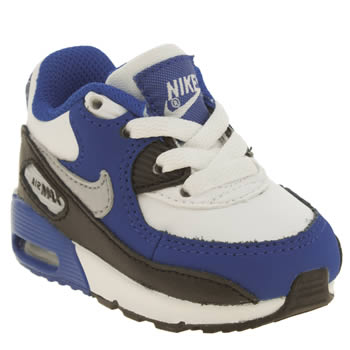 Boys Nike White & Blue Air Max 90 Boys Toddler
