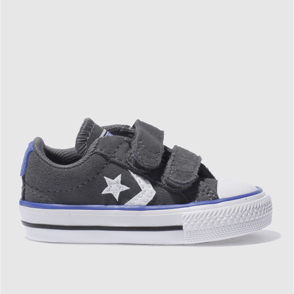 Converse Dark Grey Star Player 2v Trainers Toddler