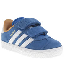 Toddler Blue Adidas Gazelle 2