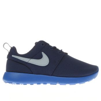 kids nike blue roshe run trainers