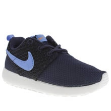 Junior Navy & Black Nike Rosherun