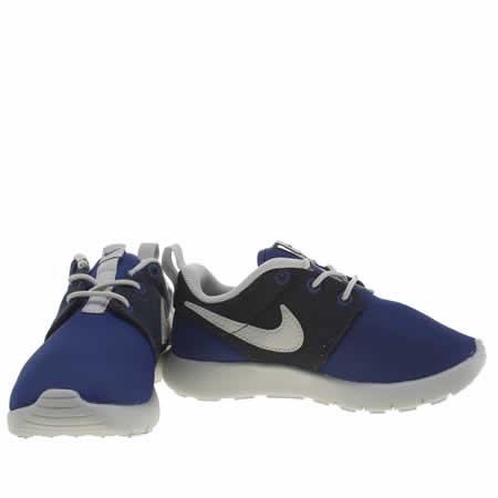 pmsaf Boys Navy & Grey Nike Roshe One Junior Trainers   schuh