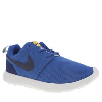 Boys Nike Blue & Yellow Roshe One Boys Junior